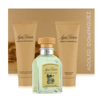 Adolfo Domínguez Lote AGUA FRESCA Eau de toilette Vaporizador 120 ml + Gel de baño 75 ml + Aftershave Bálsamo 75 ml