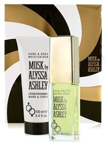 Alyssa Ashley Lote MUSK Eau de toilette Vaporizador 50 ml + Loción corporal y de manos 100 ml