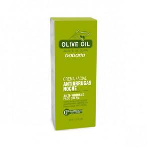 Babaria ACEITE DE OLIVA Crema Facial Antiarrugas Noche 50 ml
