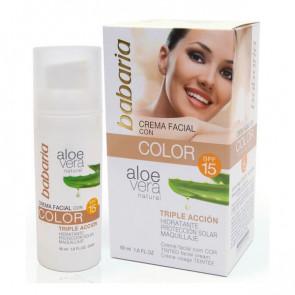 Babaria ALOE Crema Facial con Color SPF 15 50 ml