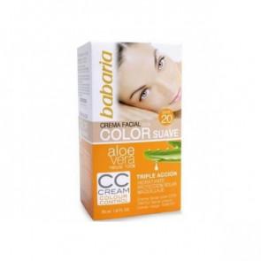 Babaria ALOE Crema Facial con Color Suave SPF 20 50 ml